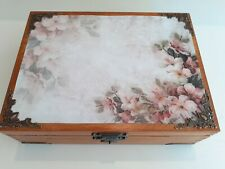 Wooden Keepsake Box, Decorative Box, Wood Box, Jewelry Box, Tea Bag Box, Patt 5