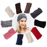 Women Crochet Knit Knitted Headband Hair Band Headwrap Winter Ear Warmer Turban