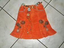 / *Traum Rock PAMPOLINA Gr.128 orange Samtcord mit tollem Blütengürtel w.Neu