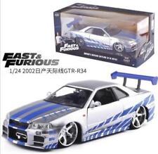 FAST AND FURIOUS JADA 1: 24 Nissan skyline GTR-R34 alloy VEHICLE CAR TOY