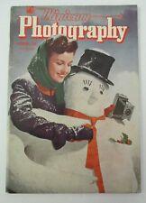 Dec. 1944 Minicam PHOTOGRAPHY, Snowman Christmas Cover, Storm Photos, Lincoln +