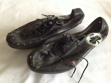COLNAGO - BLACK UP & LOWER LEATHER VINTAGE CYCLING SHOES SIZE 40 EUR NOS