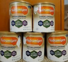5 cans of Enfamil Nutramigen 12.6 oz each with tear on labels.