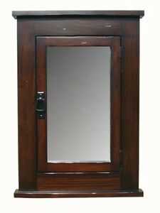 Primitive Mission Recessed Medicine Cabinet / dark finish / Solid Wood