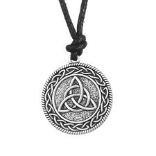 Triquetra Trinity Fashion Rope Ethnic Necklace Women Wicca Pagan Jewelry