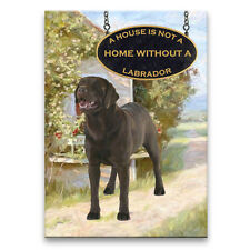 CHOCOLATE LABRADOR House Is Not A Home FRIDGE MAGNET