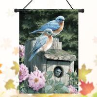 28'' x 40'' inch Bluebirds Spring Season Welcome House Garden Flag Yard Banner