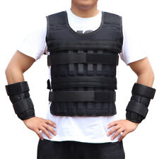 Unisex Sports Weighted Vest Adjustable 15kg Running Training Weight Loss Jacket