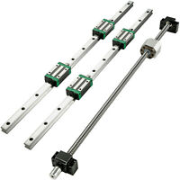 Guida Lineare CNC HGR20-800mm 2 Pezzi + Blocco di Cuscinetti 4 Pezzi