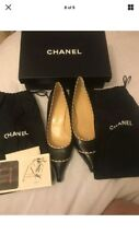 Women Authentic CHANEL Black pumps. with BOX and dust bags. Size 38