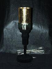 Gold, Designer Tischlampe, 24 Karat Blattgold, Tischleuchte, Handarbeit,Beflockt