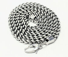 Stainless Steel Franco Necklace Chain 24 Inches 6mm Link Mens Jewelry