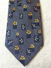 CANOVA'S CLUB MENS TIE NWOT BLUE WITH GOLD FLORAL 61 X 3.75