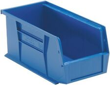 """QUS230 Quantum Plastic Storage Stacking Bin 10"""" x 4"""" x 4"""" Blue Carton of 12"""