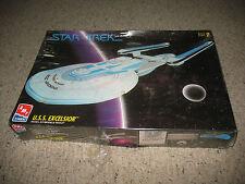 AMT Ertl Star Trek U.S.S. Excelsior Detailed Plastic Model Kit, NIB but box worn