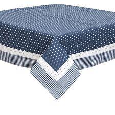 Azul Blanco Estrellas VICHY ENCAJE 100% algodón 150 x 150cm – 150cmx150cm Mantel