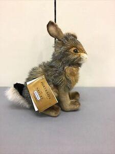 HANSA Portraits Of Nature Stuffed Plush Black Tail Rabbit NWT