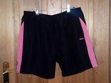 Reebok Spliced Woven Short Black/Pink Size 16 - RRP $49.95