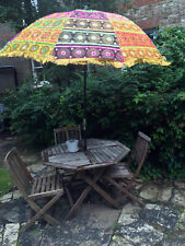 Handmade Garden Parasol Embroidered Indian Outdoor Sun Shade Patio Umbrella 72""