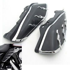 Flame Mid-Frame Engine Air Deflectors Heat Shield Trim For Harley Touring 09-12
