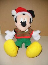 Mattel Arco Toys Christmas Santa Mickey Mouse Stuffed Plush Large 18'' EXCELLENT