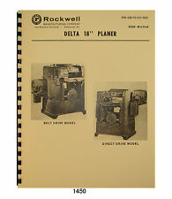 Carpentry woodworking manuals books for sale ebay rockwell 18x 6 planer 22 200 thru 22 251 op fandeluxe