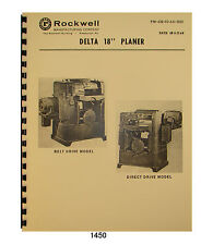 Carpentry woodworking manuals books for sale ebay rockwell 18x 6 planer 22 200 thru 22 251 op fandeluxe Choice Image