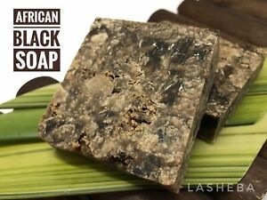 AFRICAN BLACK SOAP-PURE-NATURAL-ACNE-BLACK HEADS-BREAKOUTS-STRECH MARKS-WRINKLES