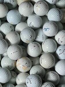 100 Callaway Hex Chrome Soft Black Tour AA Shag Golf Balls