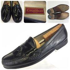 Cole Haan City Black Leather Tassel Loafer Slip On Dress Shoe Men's Size 10.5 D