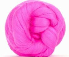 4 Ounces Merino Wool Combed Top/Roving - Paradise Pink - FREE SHIPPING