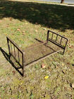 ANTIQUE WROUGHT IRON BABY OR DOLL BED  25 X 14 11.75 INCHES