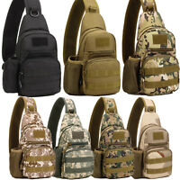 Men's Small Camo Canvas Military Messenger Shoulder Travel Hiking Bags Backpack