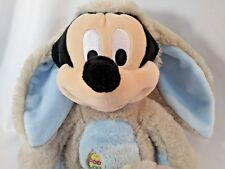 """DISNEY STORE MICKEY MOUSE Easter Bunny Costume Stuffed Plush Toy 14"""""""