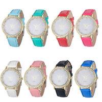 Geneva Women Luxury Diamond Analog Leather Strap Quartz Wrist Watch Watches NEW