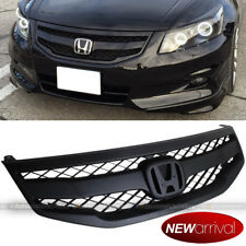 Fit 2011 2012 Accord 4DR Mod Style Unpainted Honeycomb Bumper Mesh Grill Grille