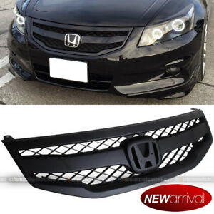 Fit 11 12 Accord 4DR JDM Mod Style Matte Sport Front Bumper Mesh Grill Grille