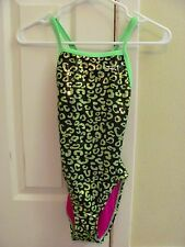 GIRLS COMPETITIVE SWIM SUIT, Leopard print suit, Finals swim suit, Girls size 28