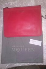 Alexander McQueen NEW Red Leather Skull Clutch Bag Ships in 24 hours! Make offer