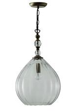 Schreiber Beaudesert Antique Brass Pendant Light Lamp New