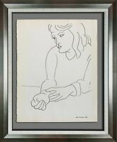 "Henri MATISSE Original LITHOGRAPH ""Monique"" Limited Ed. w/Archival Custom Frame"