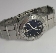BVLGARI DIAGONA LC29S  AUTOMATIC STAINLESS STEEL DATE WATCH