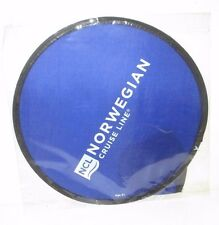 """NORWEGIAN CRUISE LINES NCL SHIP LOGO 10"""" FOLDING FRISBEE FLYER DISC WITH POUCH"""