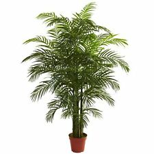 Nearly Natural 5390 Areca Palm UV Resistant Tree- 6.5-Feet- Green