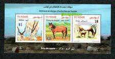 2019- Tunisia - Animals in danger of extinction - Poney- Addax- Oryx-Block MNH**
