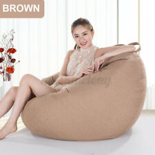 Waterproof Large Bean Bag Chairs Couch Sofa Cover Indoor Lazy Lounger for  q