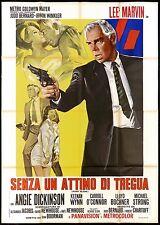 SENZA UN ATTIMO DI TREGUA MANIFESTO FILM LEE MARVIN POINT BLANK MOVIE POSTER 4F