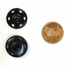 New Sew-On Snaps Fasteners Size:19mm 144 sets package, Color: Black