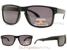 POLARIZED Matte Black HOLBROOK Sunglasses mens sports wrap square flat gangster