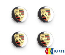 NEW GENUINE PORSCHE CARRERA TURBO 911 WHEEL CENTER CAPS LOGO 4PCS 99136120710
